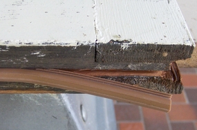 bulbseal weatherstripping applied to sash